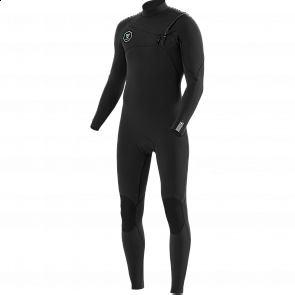 Vissla Seven Seas 4/3 Chest Zip Wetsuit - Black/Jade