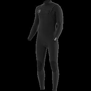 Vissla Seven Seas 3/2 Chest Zip Wetsuit - Black/Jade