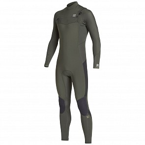 Billabong Furnace Absolute 4/3 Chest Zip Wetsuit - Olive