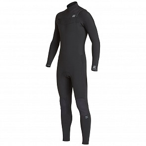 Billabong Furnace Revolution 3/2 Chest Zip Wetsuit - Black