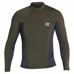 Billabong Absolute Comp 2mm Long Sleeve Jacket - Black/Olive