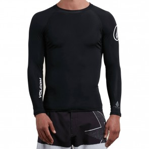 Volcom Lido Solid Long Sleeve Rash Guard - Black