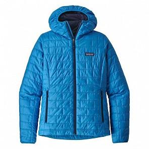 Patagonia Women's Nano Puff Hoddie Jacket - Lapiz Blue
