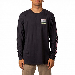 Rip Curl Native Glitch Long Sleeve T-Shirt - Black - front