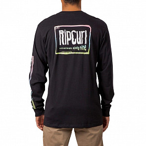 Rip Curl Native Glitch Long Sleeve T-Shirt - Black