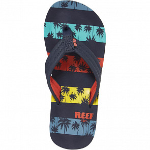 Reef Youth Ahi Sandals - Navy Palm Stripe - Top