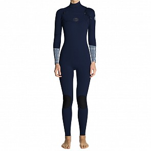 Rip Curl Women's Flash Bomb 4/3 Chest Zip Wetsuit - Blue