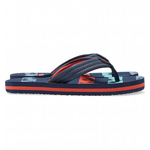 Reef Youth Ahi Sandals - Navy Palm Stripe