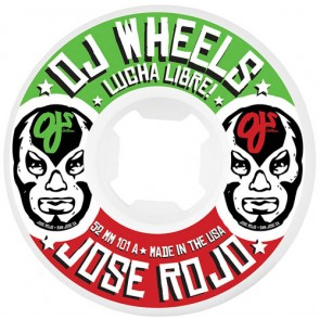 OJ Wheels 52mm Rojo Lucha Libre Wheels - White
