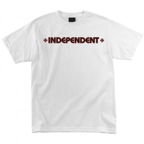 Independent Bar/Cross T-Shirt - White