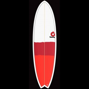 Torq Surfboards 6'6'' Torq Mod Fish - Red/Red/Grey