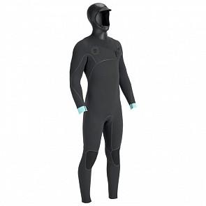 Vissla North Seas 5.5/4.5 Hooded Wetsuit - Dark Grey Smoothy