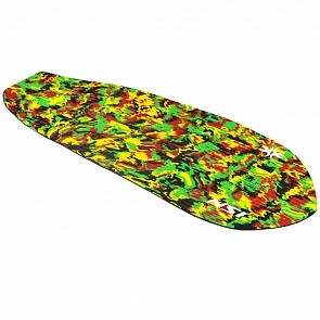 North Shore Inc Full Monty Surf Pad with Inserts - Long Diamond - Rasta
