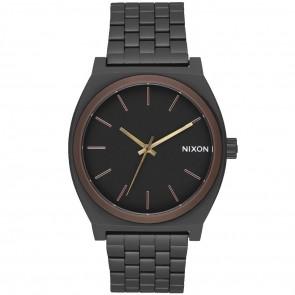 Nixon Time Teller Watch - All Black/Brown/Brass