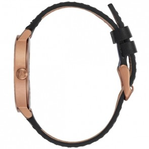 Nixon Women's Arrow Leather Watch - Rose Gold/Black