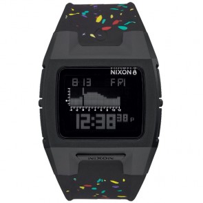 Nixon Lodown Silicone Watch - Black Multi Speckle