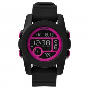 Nixon Unit 40 Watch - Black/Magenta