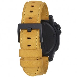 Nixon Ranger Leather Watch - All Black/Goldenrod