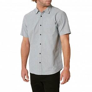 O'Neill Theodore Stripe Short Sleeve Shirt - Light Grey
