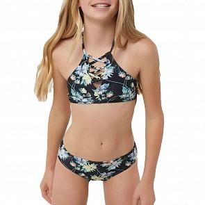O'Neill Youth Girls Dahlia Two-Piece Swimsuit - Black