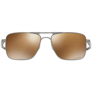 Oakley Gauge 6 TI Polarized Sunglasses - Satin Chrome/Prizm Tungsten