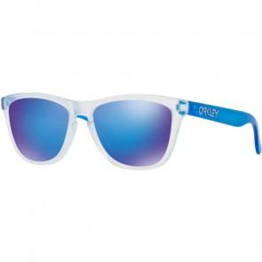 Oakley Frogskins Colorblocked Sunglasses - Matte Clear/Sapphire Iridium