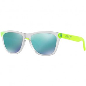 Oakley Frogskins Colorblocked Sunglasses - Matte Clear/Jade Iridium