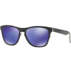 Oakley Frogskins Checkbox Sunglasses - Black/Violet Iridium
