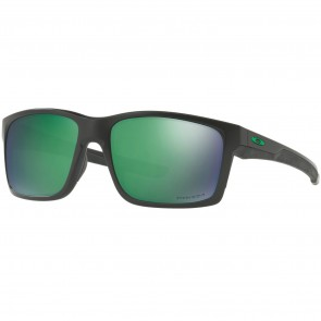 Oakley Mainlink Polarized Sunglasses - Matte Black/Prizm Jade