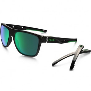 Oakley Crossrange XL Sunglasses - Polished Black/Jade Iridium