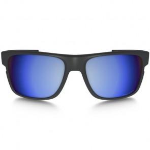 Oakley Crossrange Polarized Sunglasses - Matte Dark Grey/Prizm Deep Water