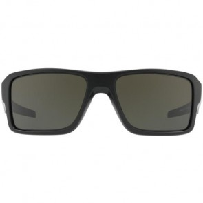 Oakley Double Edge Sunglasses - Matte Black/Dark Grey