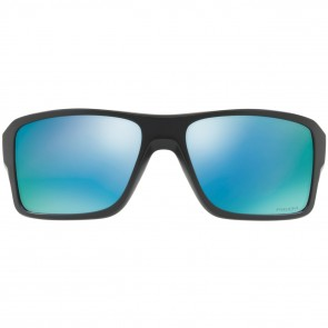Oakley Double Edge Polarized Sunglasses - Matte Black/Prizm Deep Water