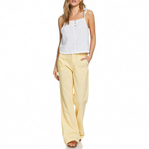 Roxy Women's Oceanside Pants - Sahara Sun - front