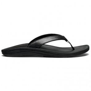 Olukai Women's Kulapa Kai Leather Sandals - Black