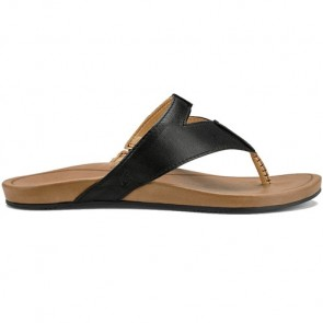 Olukai Women's Lala Sandals - Black/Tan