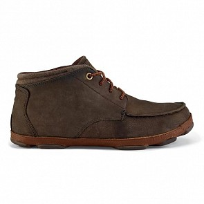 Olukai Hamakua Boots - Dark Wood/Toffee