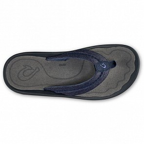 Olukai Hokua Mesh Sandals - Night/Charcoal