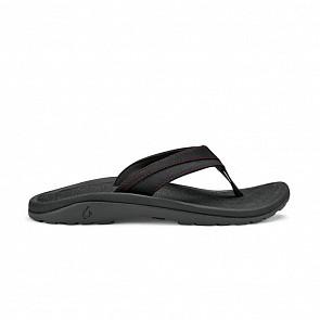 Olukai Ohana Koa Sandals - Carbon/Carbon