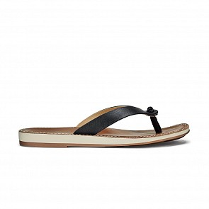 Olukai Women's Nohie Sandals - Black/Tan