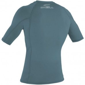 O'Neill Wetsuits Basic Skins Short Sleeve Rash Guard - Dusty Blue