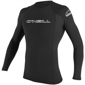 O'Neill Wetsuits Basic Skins Long Sleeve Rash Guard - Black