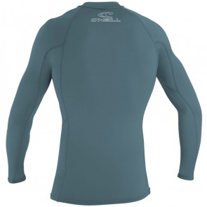 O'Neill Wetsuits Basic Skins Long Sleeve Rash Guard- Dusty Blue