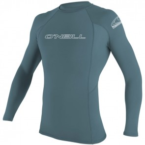 O'Neill Wetsuits Basic Skins Long Sleeve Rash Guard - Dusty Blue