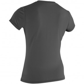 O'Neill Wetsuits Women's Basic Skins Rash Tee - Graphite