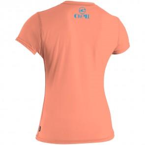 O'Neill Wetsuits Women's Skins Rash Tee - Light Grapefruit