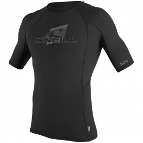 O'Neill Wetsuits Skins Short Sleeve Rash Guard - Black