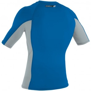 O'Neill Wetsuits Premium Skins Short Sleeve Rash Guard - Ocean/Cool Grey