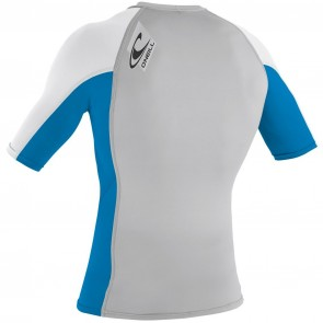 O'Neill Wetsuits Skins Short Sleeve Crew - Lunar/Bright Blue/White