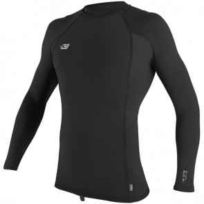 O'Neill Wetsuits Premium Skins Long Sleeve Crew Rash Guard - Black